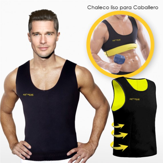 Chaleco Reductor Liso para Caballero